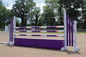 horse jumps, poles, standards