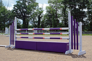 horse jumps, poles, standards