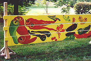 custom horse jump plank