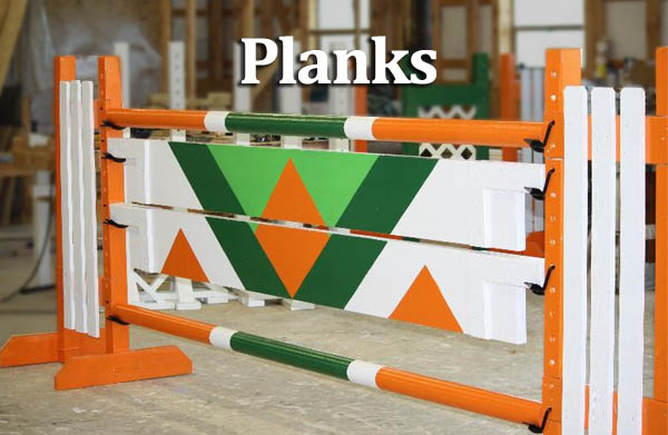 horse jump planks