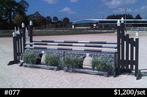 Gray aqueduct horse jump