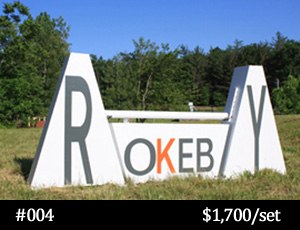 Rokeby branded horse jump
