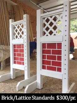 brick and lattice horse jump standard