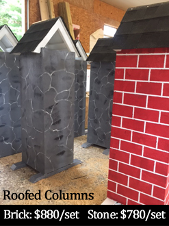 roofed columns horse jump standards