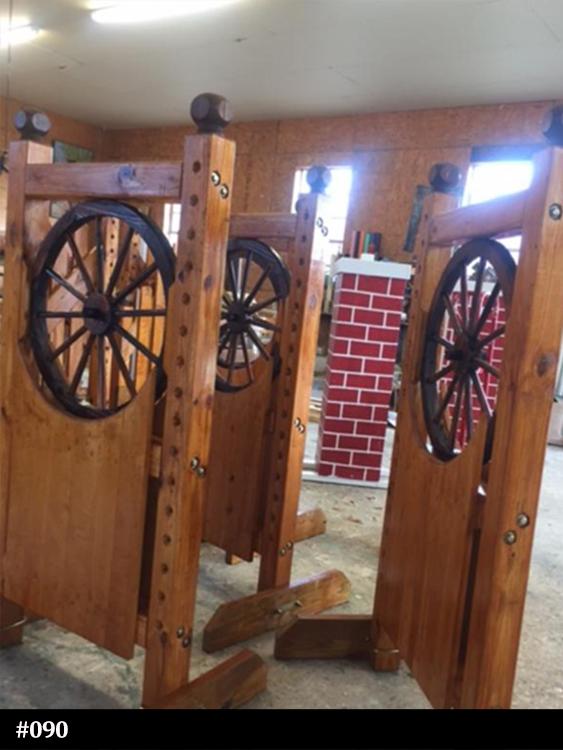 wagon wheel horse jump standards