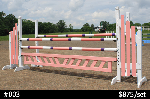pink and purple horse jump
