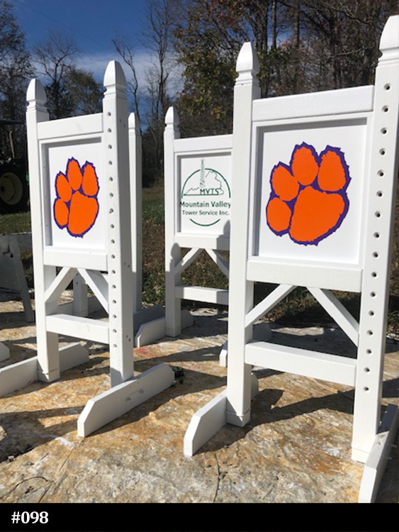 Standards with tiger paw graphic