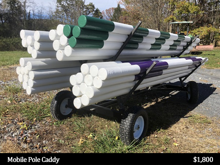 mobile pole caddy