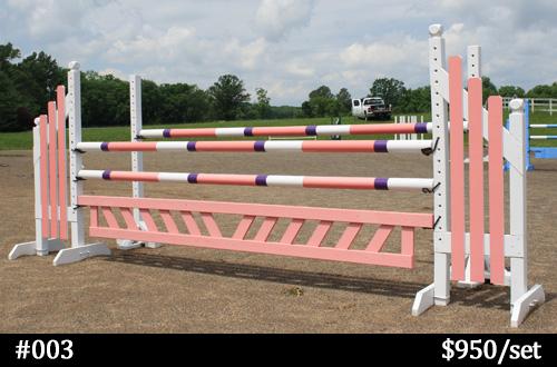pink horse jump