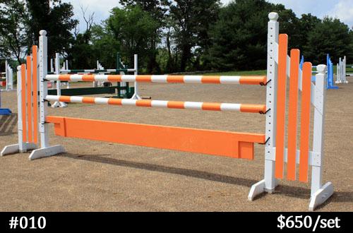 orange and white horse jump