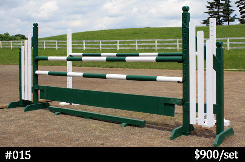 green and white horse jump