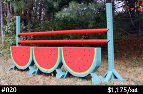 Watermelon horse jump