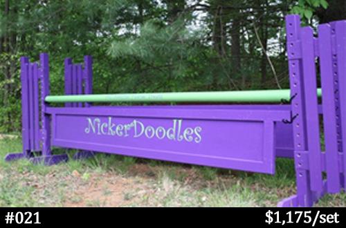 NickerDoodles branded horse jump