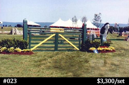 Bannera sponsored horse jump