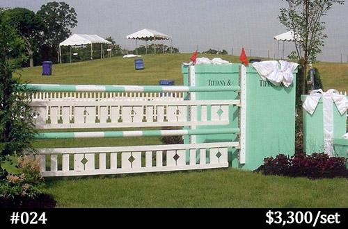 Tiffany box style horse jump