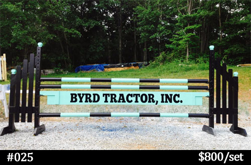 Byrd Tractor horse jump