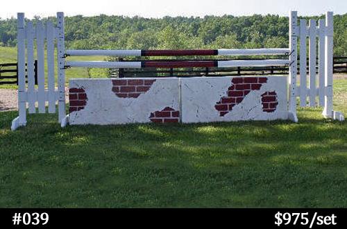 stucco and brick look horse jump