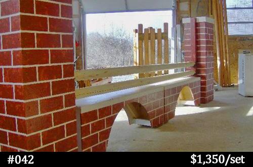brick wall horse jump