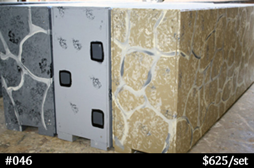 stone colors for horse jump walls