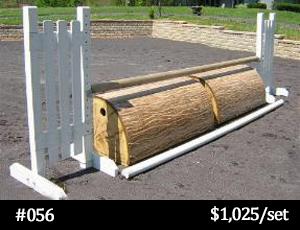 wood-look roll top horse jump