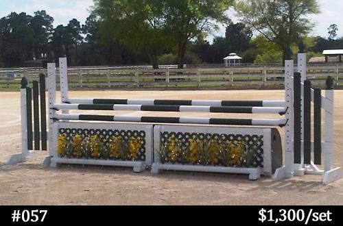 horse jump with lattice flower box