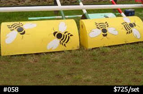 honey bees on yellow roll top