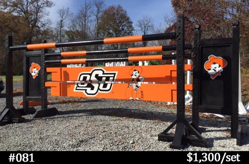 OSU black and orange horse jump