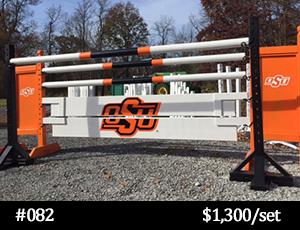 OSU orange and black horse jump