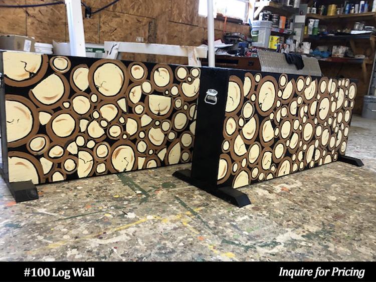 Log Wall style horse jump wall