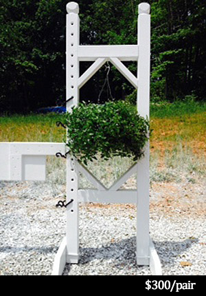horse jump standard with flower box